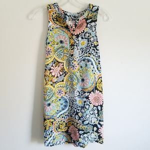 LOFT Sleeveless Flower Dress | Has Belt Sash